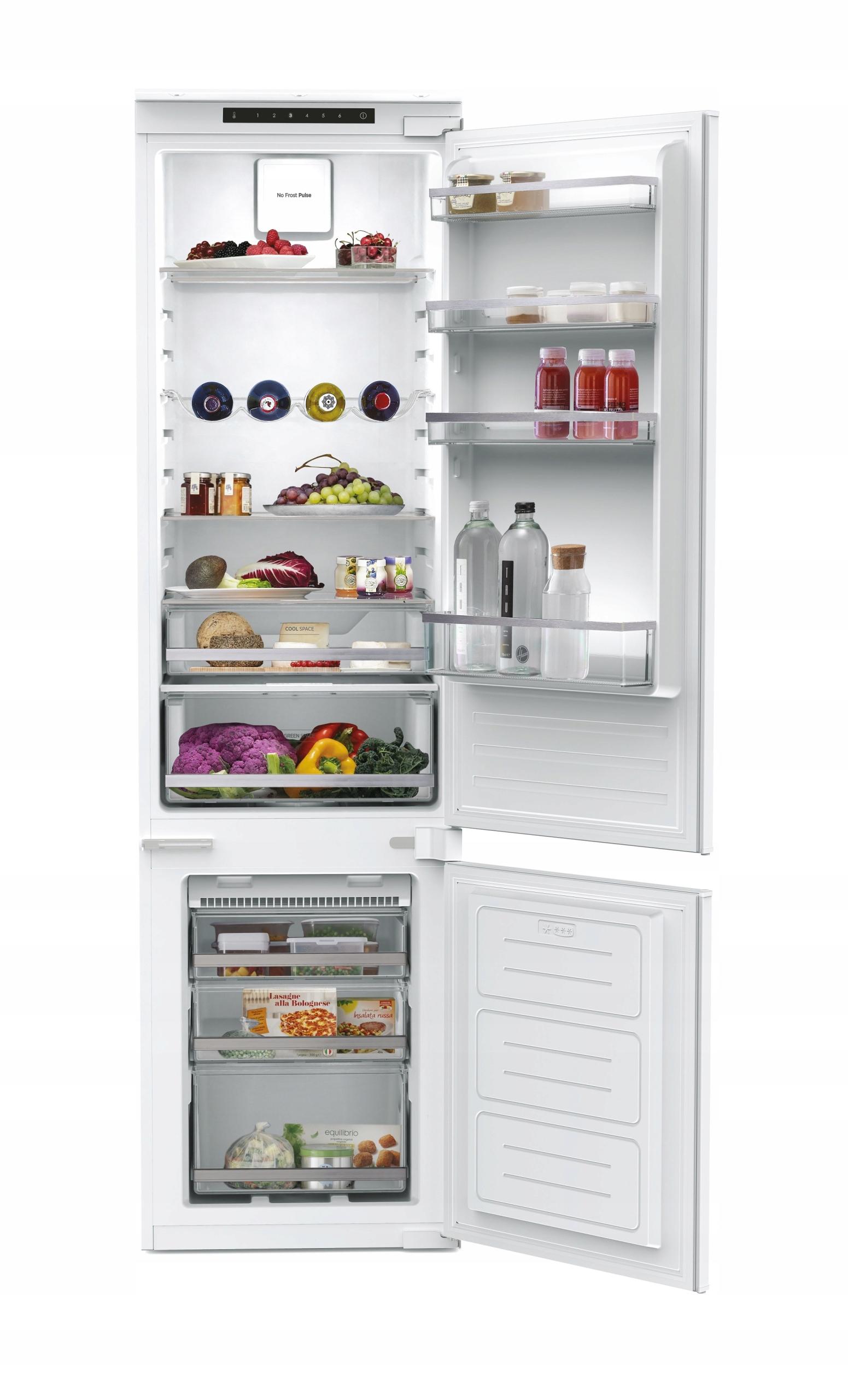 Встраиваемый холодильник 193 см HOOVER full NoFrost LED