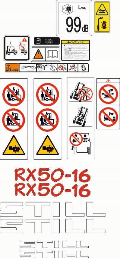 Stále RX 50 - 16 nálepka