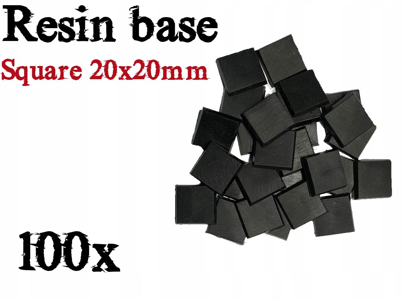 20x20mm štvorcové základne 100 prípadový prípad WH40K