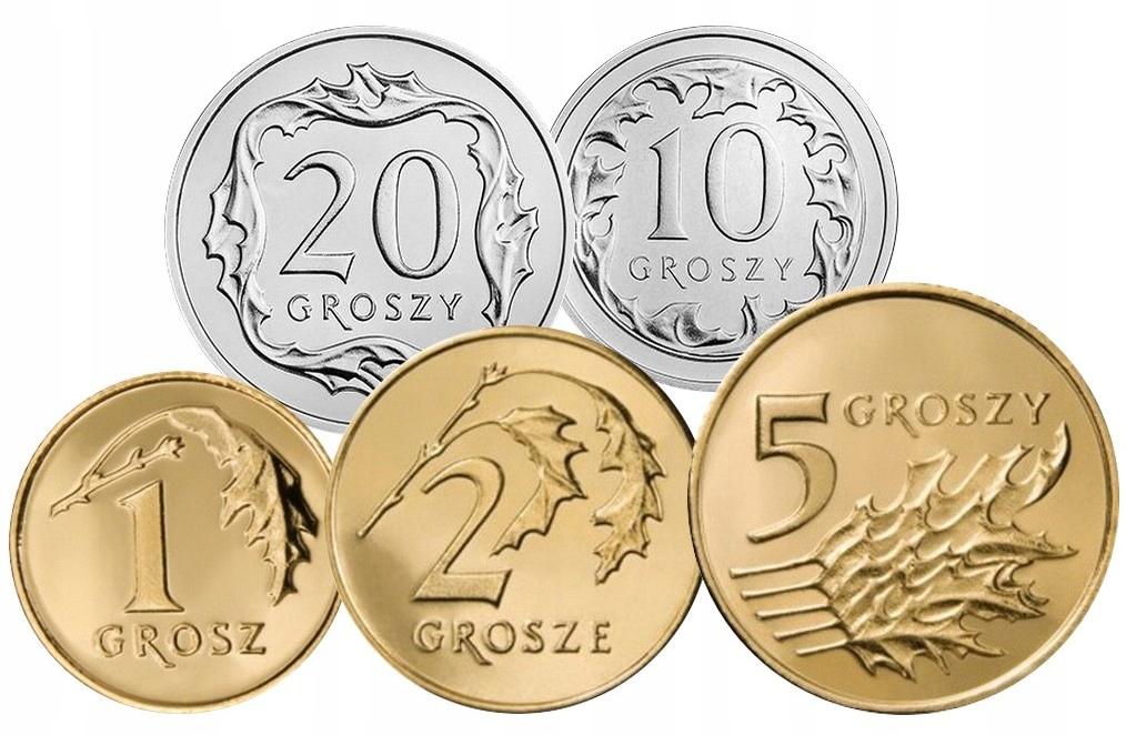 Набор циркуляционных монет 2002 UNC 5 штук