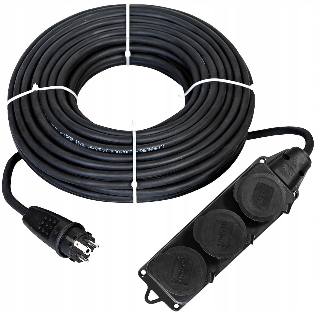 40m gumový predlžovací kábel 3x2.5 Stavebné Tee