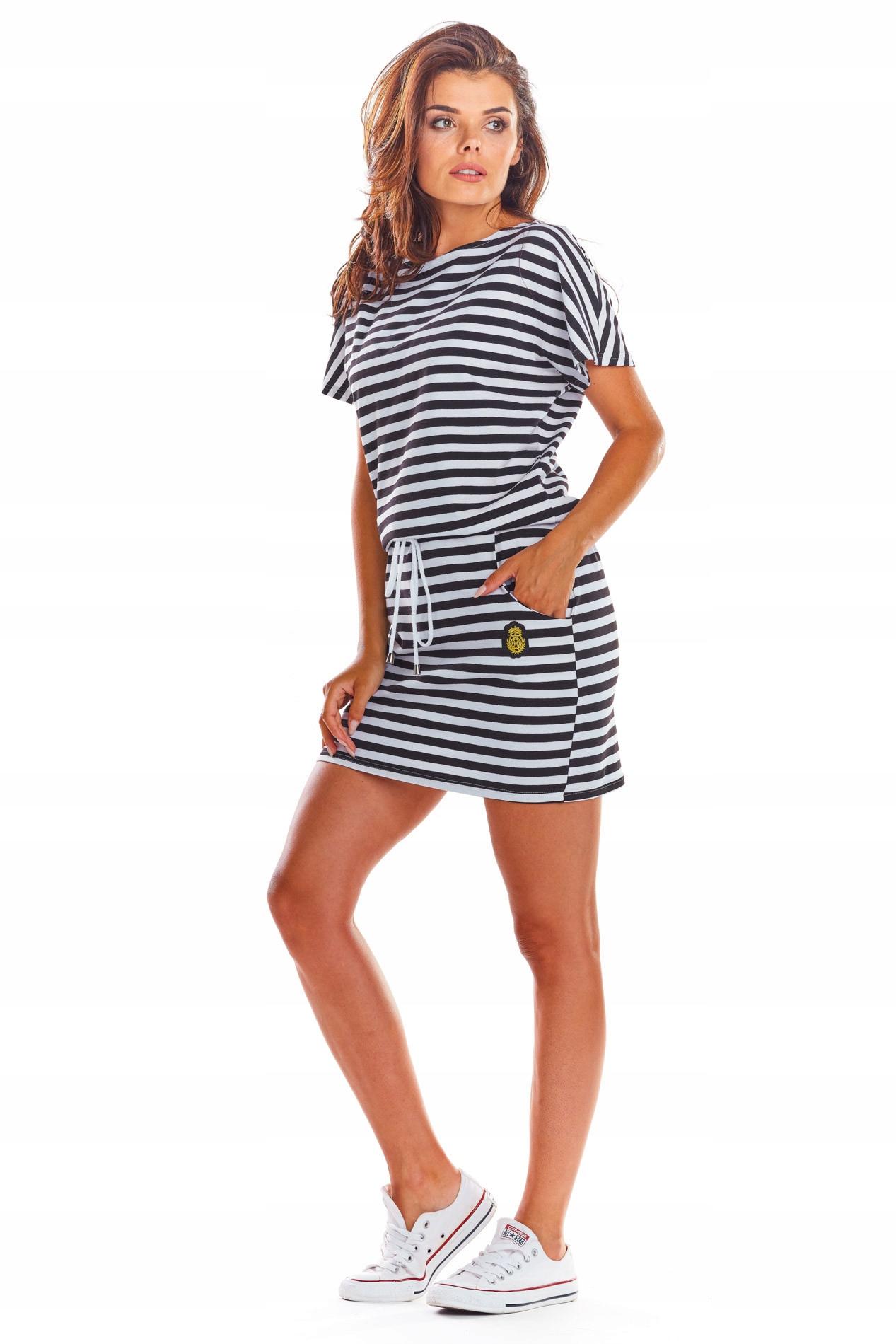 Kobieca Sukienka Mini z Bawełny Wiosna Lato M