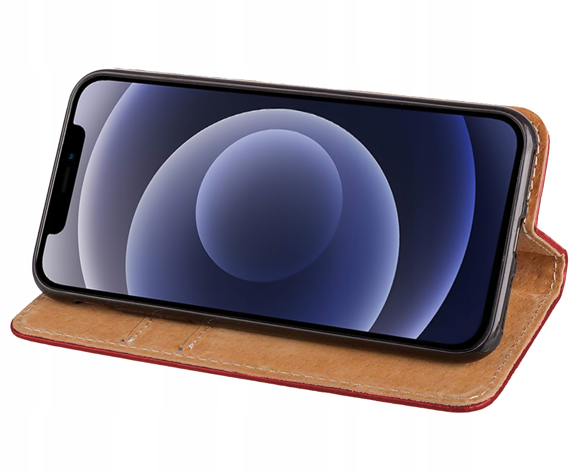 Etui do iPhone 12 Pro Skórzane Portfel + Szkło 9H Kod producenta M60A