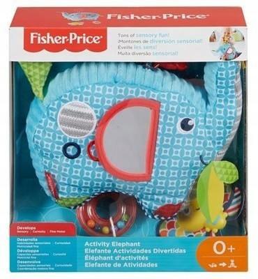 Plyšový slonový hrkálka FDC58 Fisher Price