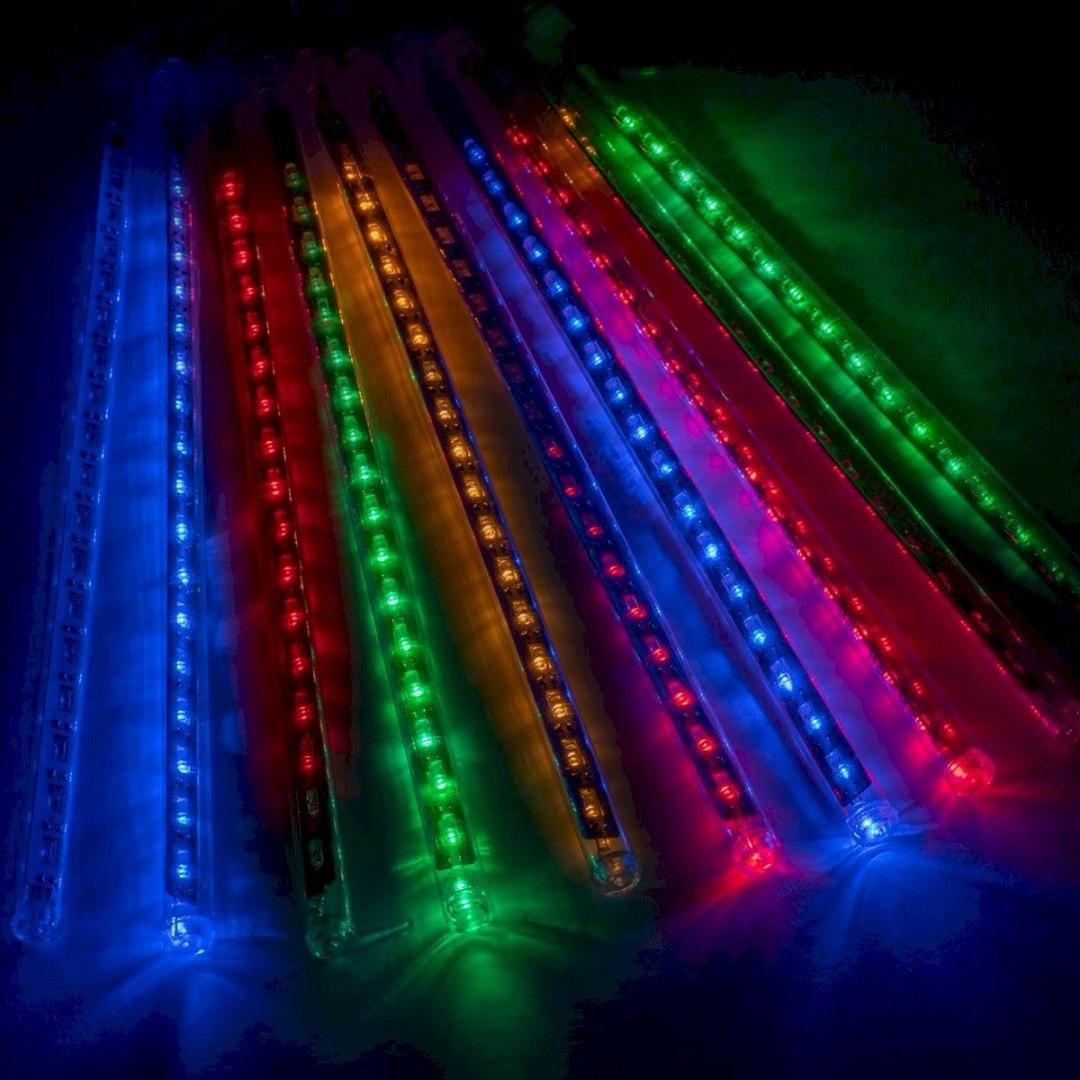 Rampouchy na žiarovky 180 LED 30 cm farebné, 7,5 m str