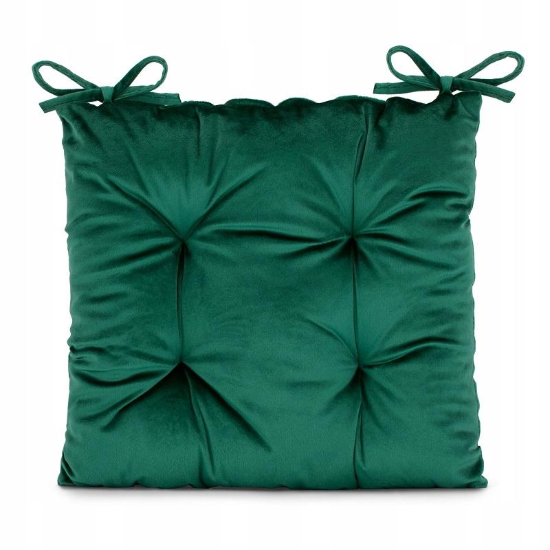 Бархатная подушка. Терраса. Балкон. Бутылочно-зеленый.