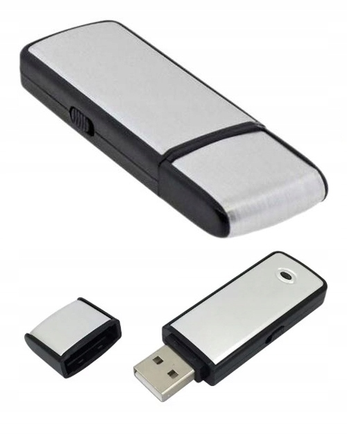 MINI DYKTAFON PENDRIVE PODSŁUCH SZPIEGOWSKI USB Obsługa kart pamięci nie