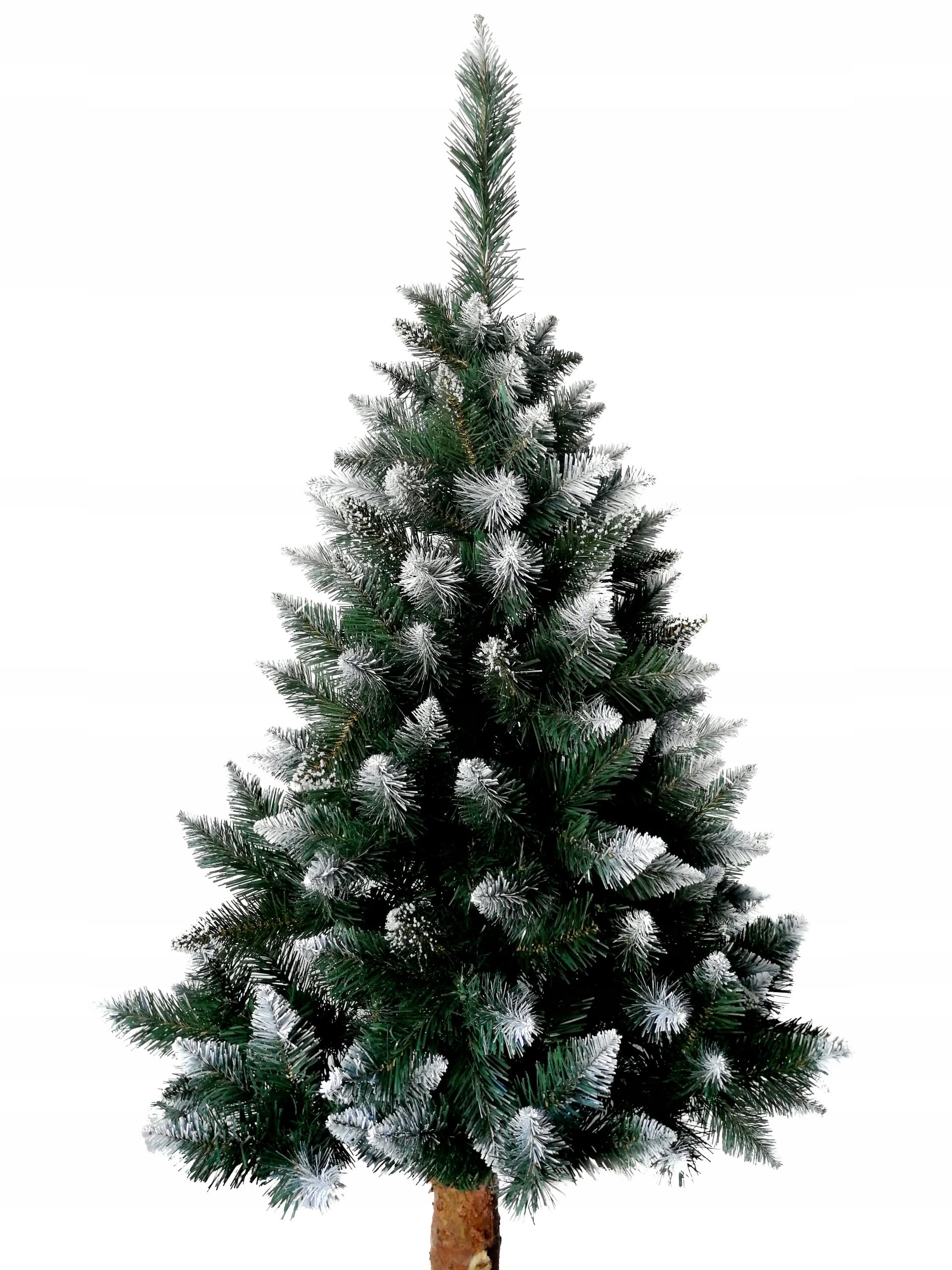 Umelý vianočný stromček na kmeni STRIEBORNÁ BOROVKA 180 cm