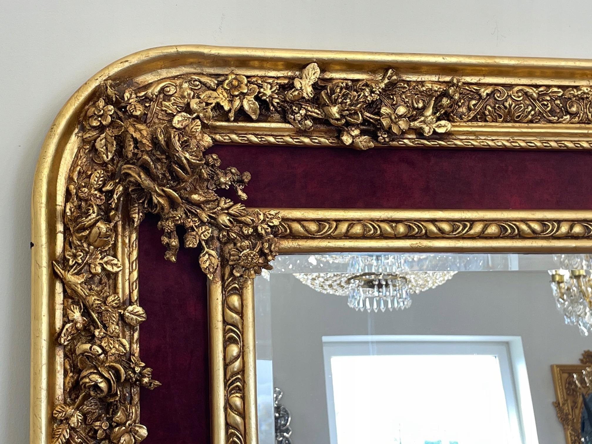 ЗОЛОТО - Бордо - РАМА - декорированная - 160 x 105