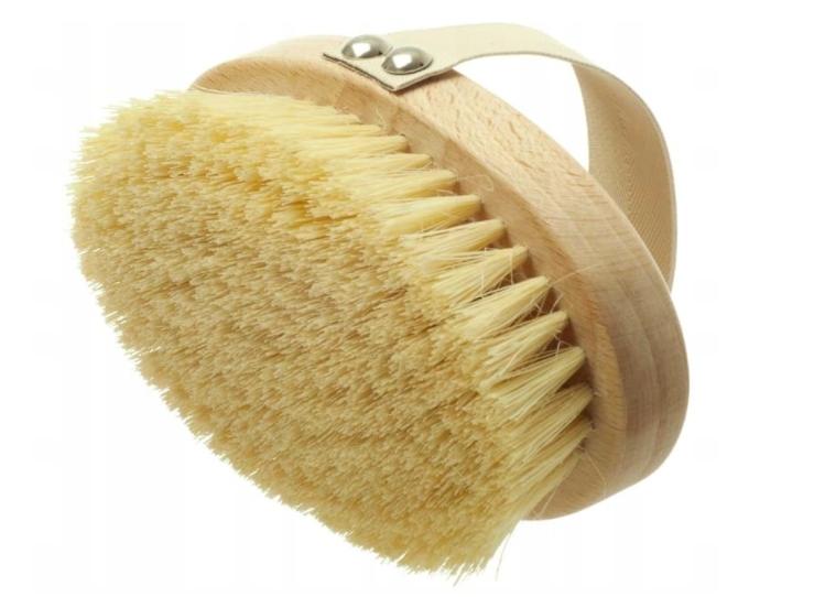 Zestaw szczotka masażu na sucho twarzy rąk tampico Marka inna marka