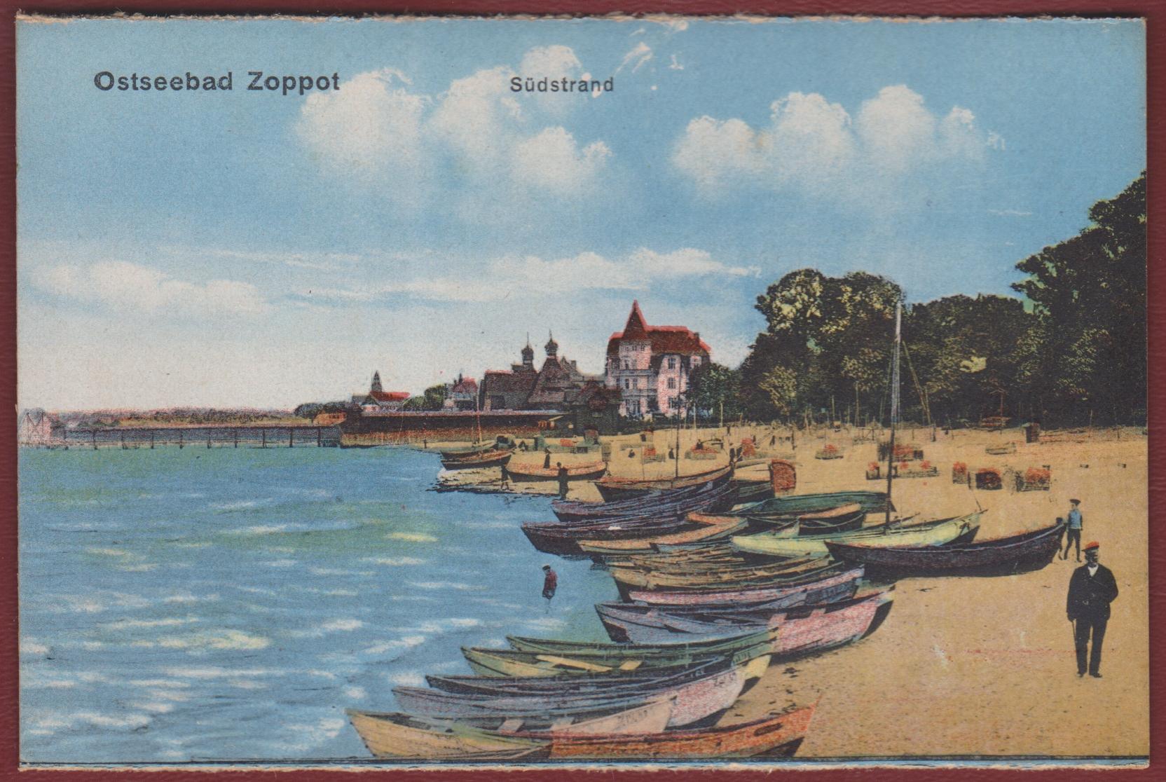 Южный пляж Сопота Ostseebad Zoppot Sudstrand