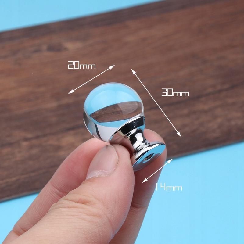 Kľučky zásuviek do skrinky z tvarovaného krištáľu