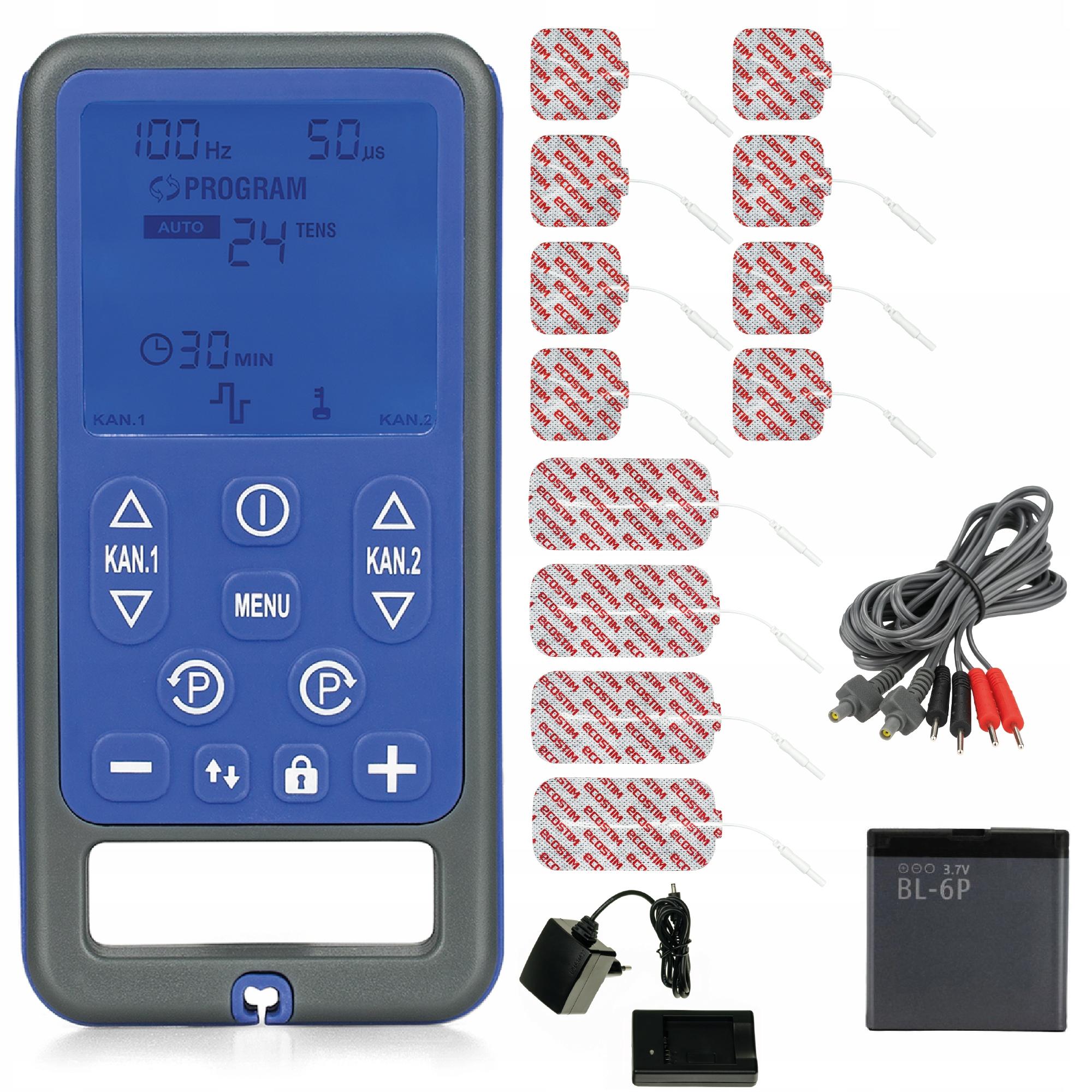 Elektrostymulator TENS EMS masaż 59 progr ECO54