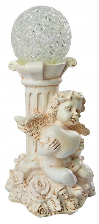 Figurka Anioł ANIOŁEK Led z kulą dekoracyjna 15cm Waga produktu z opakowaniem jednostkowym 1 kg