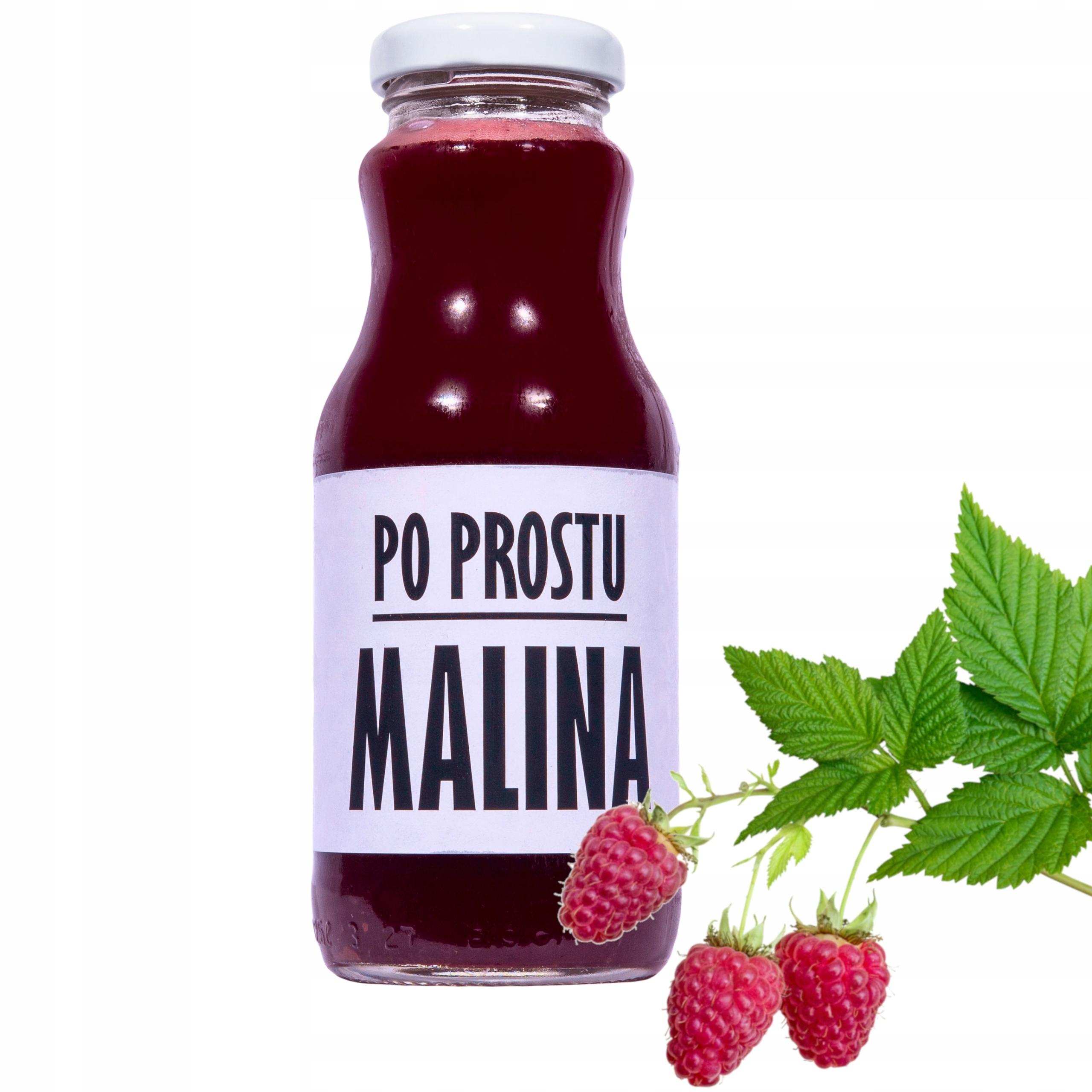 sok malina malinowy 100% sok z malin 250ml
