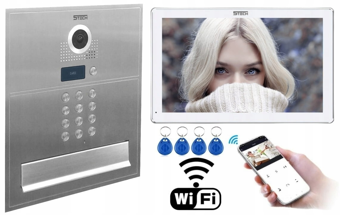 Wideodomofon IP SKRZYNKA na Listy STECH WiFi LCD10