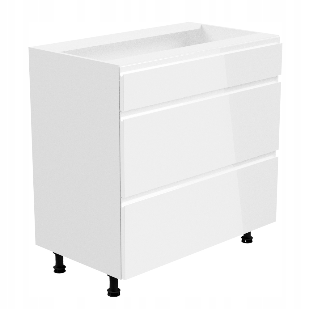 ASPEN D80S3 Skriňa so zásuvkami, spodné 80 white