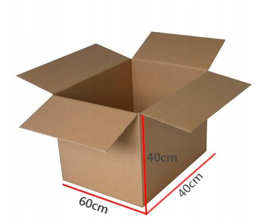 KARTON przeprowadzki UCHWYT 600x400x400 5W 10szt Długość zewnętrzna 60 cm