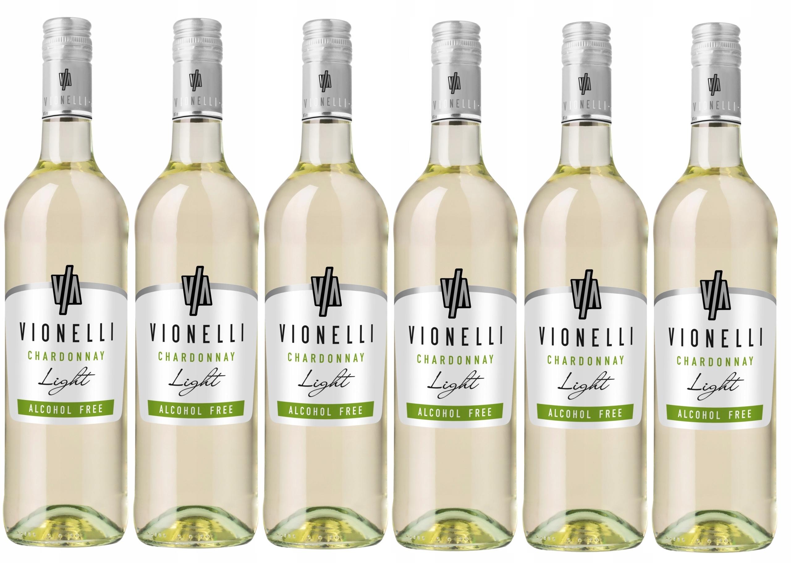 Wino Włoskie Vionelli Chardonnay 0% zestaw 6 win