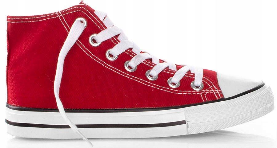 4970 Czerwone Wysokie Trampki Tenisówki Damskie 39