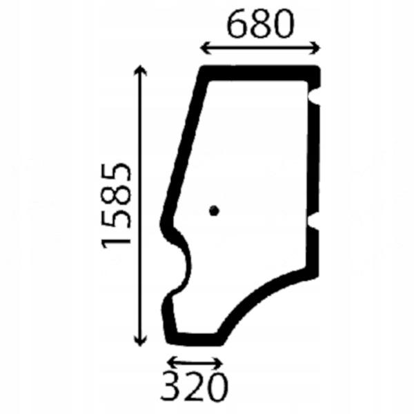 Стеклянная дверь левая JCB Project 21 3CX, 4CX, 5CX