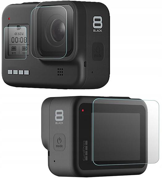 Osłona Szkło na Obiektyw Ekran GoPro Hero 8 black
