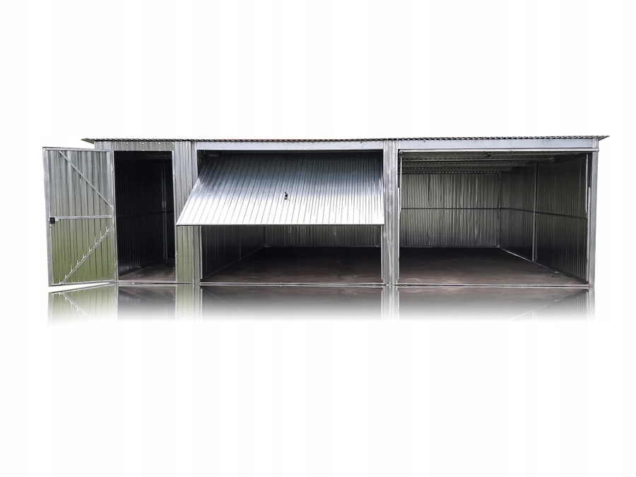 Garaże blaszane blaszak 7,5x5 + dodatkowe drzwi