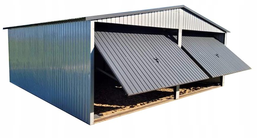 Garage Tin Blaszak 6x5 фронтон RAL графит