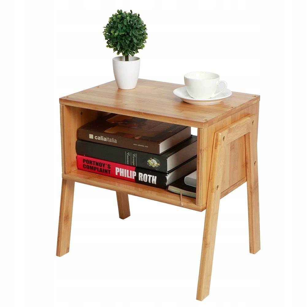 nocny Bambusowy stolik układania 2SZT