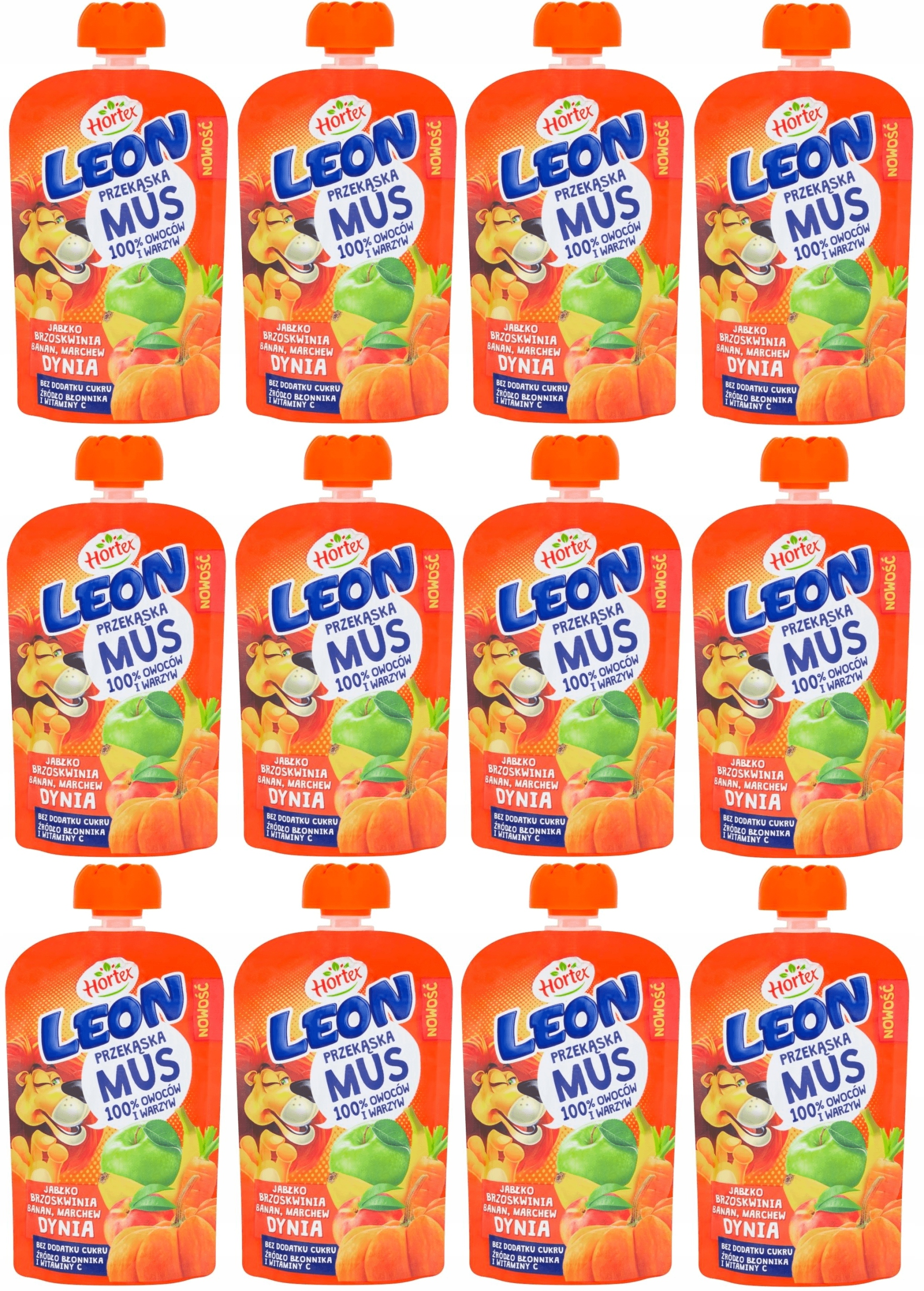 Hortex LEON MUS Banana March Peach Pumpkin 12 х 100гр