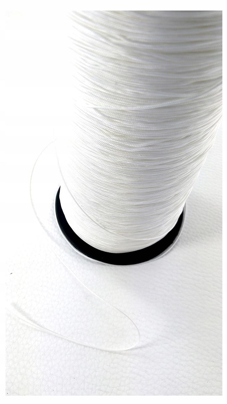 Sznurek do plis plisa plisy rolet 0,8mm biały 12mb