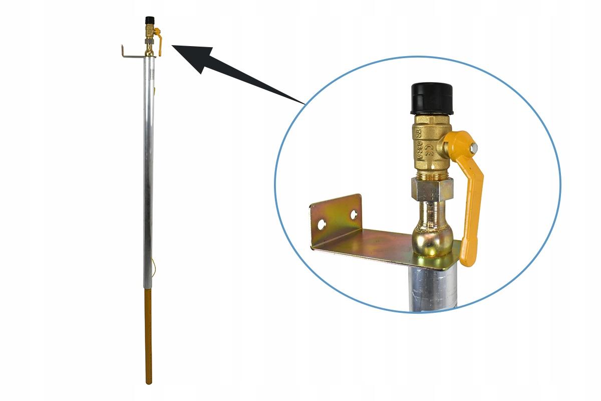 Pripojenie stĺpcov Pripojenie plynu DN32 Cock DN15