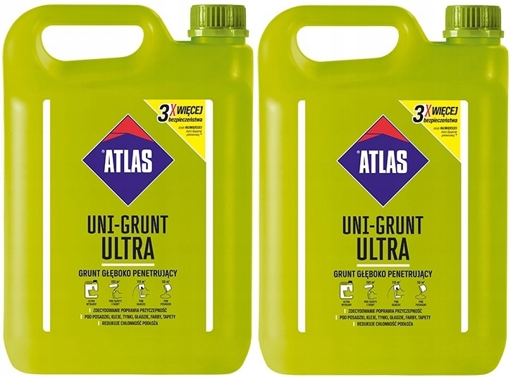 Atlas UNI-GRUNT ULTRA 2x5L głęboko penetrujący 10l