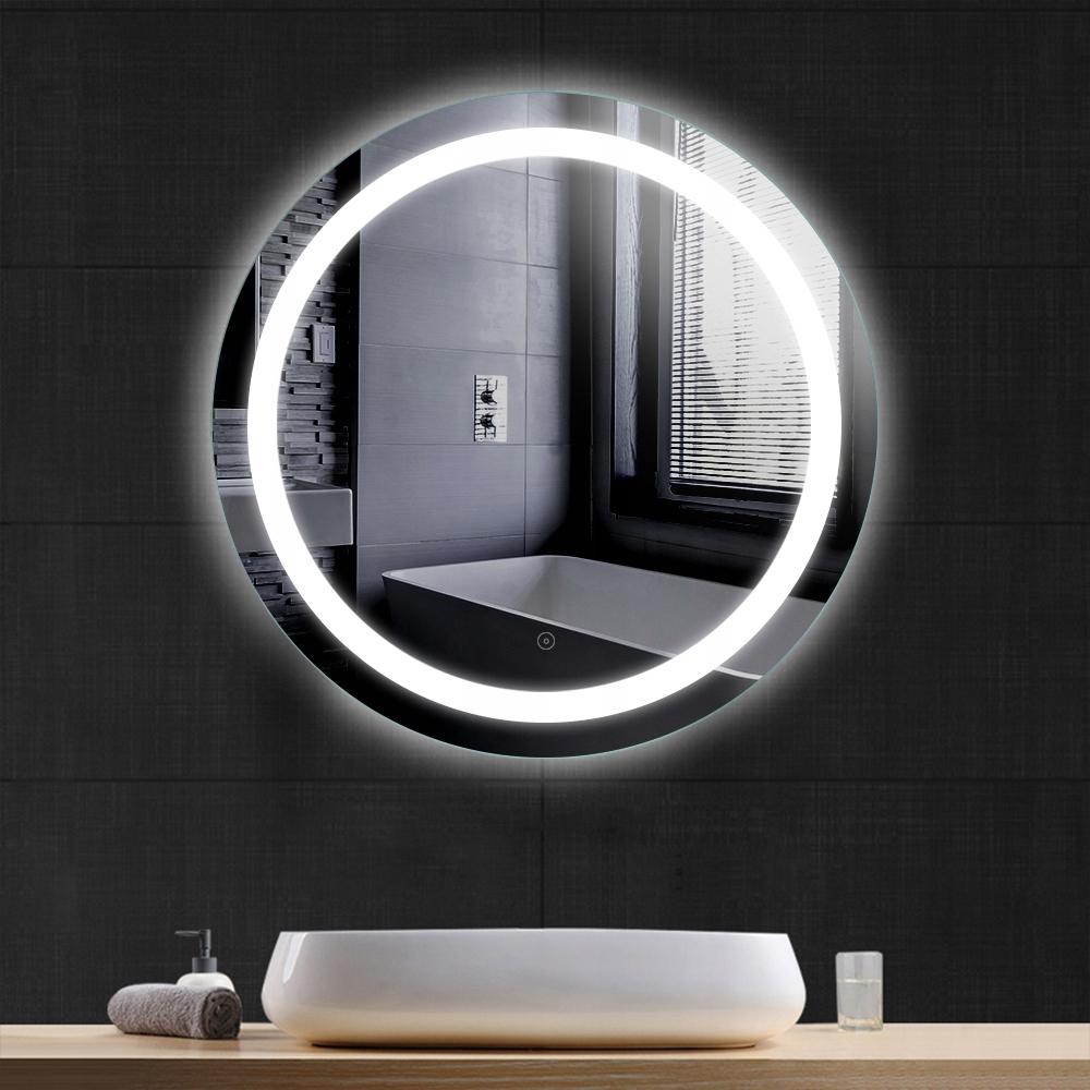 Okrúhle kúpeľňové LED zrkadlo proti zahmlievaniu 60cm