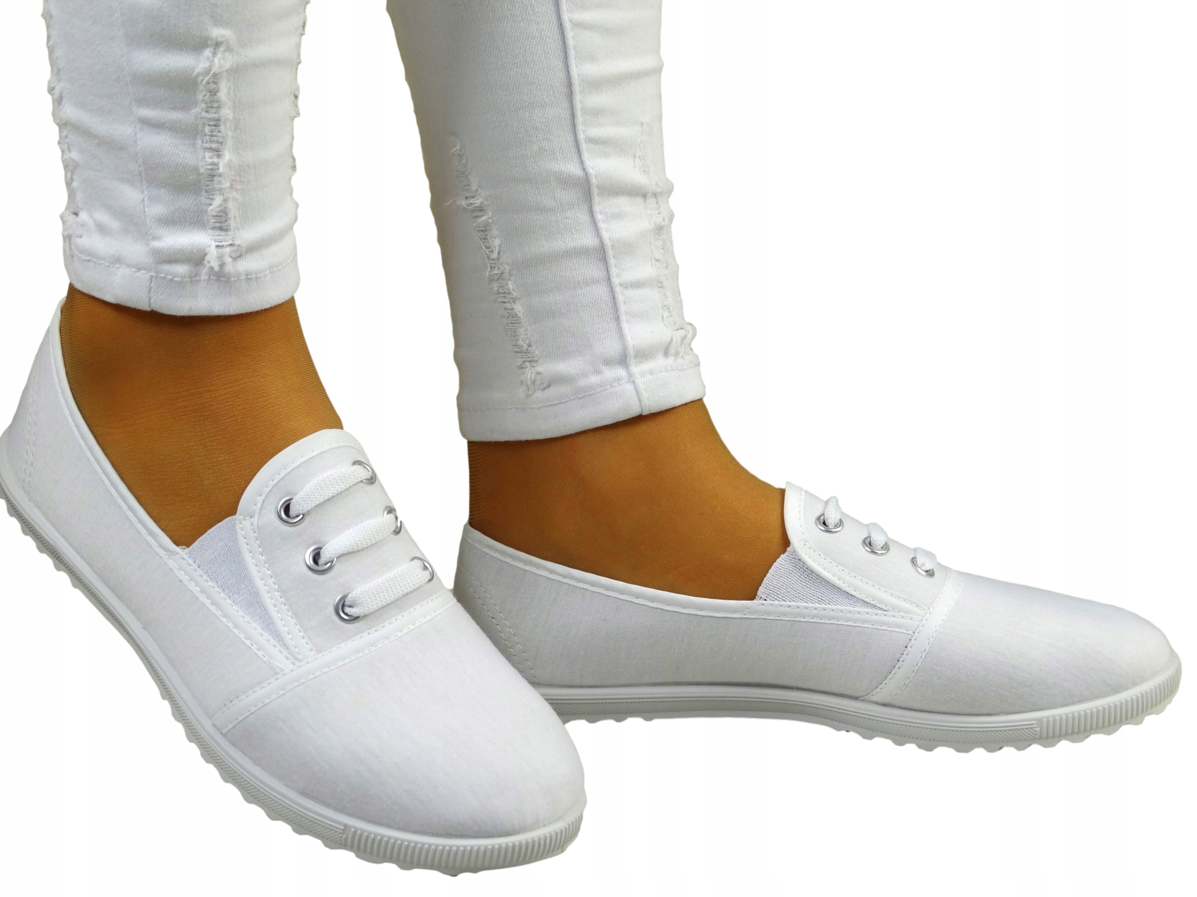 Biele Ballerinas tenisky s ďasná