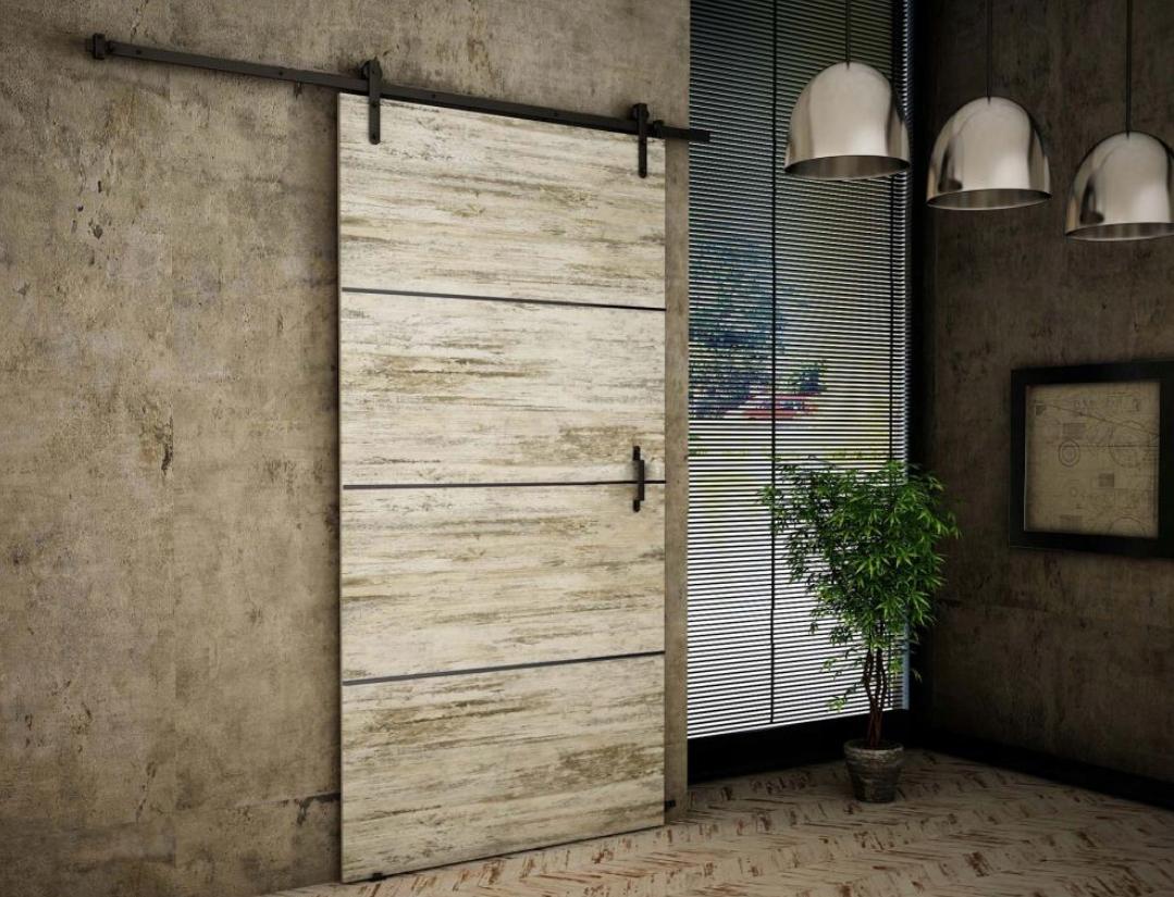 Nástenné posuvné dvere Bielená borovica RT90 Plus