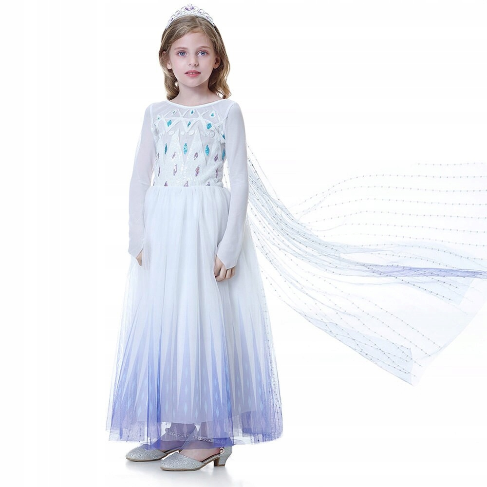 FROZEN SUKIENKA ELSA KRAINA LODU 7-8 lat model E8 Płeć Dziewczynki