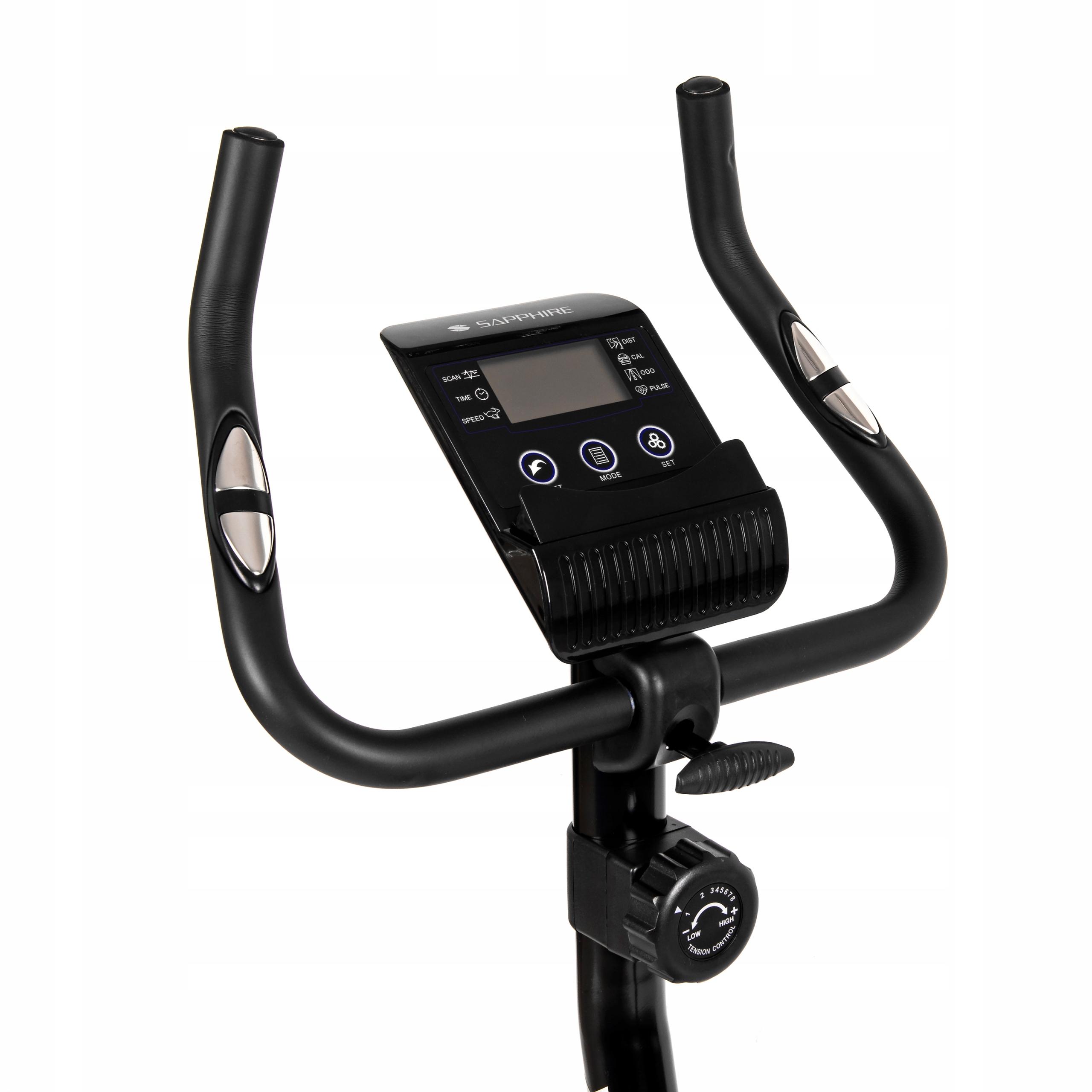 Rower treningowy magnetyczny SG ZAX stacjonarny Cechy dodatkowe kółka transportowe miejsce na telefon/tablet podpórka na książkę regulacja kierownicy regulacja siedziska sensory dotykowe uchwyty na stopy wyświetlacz