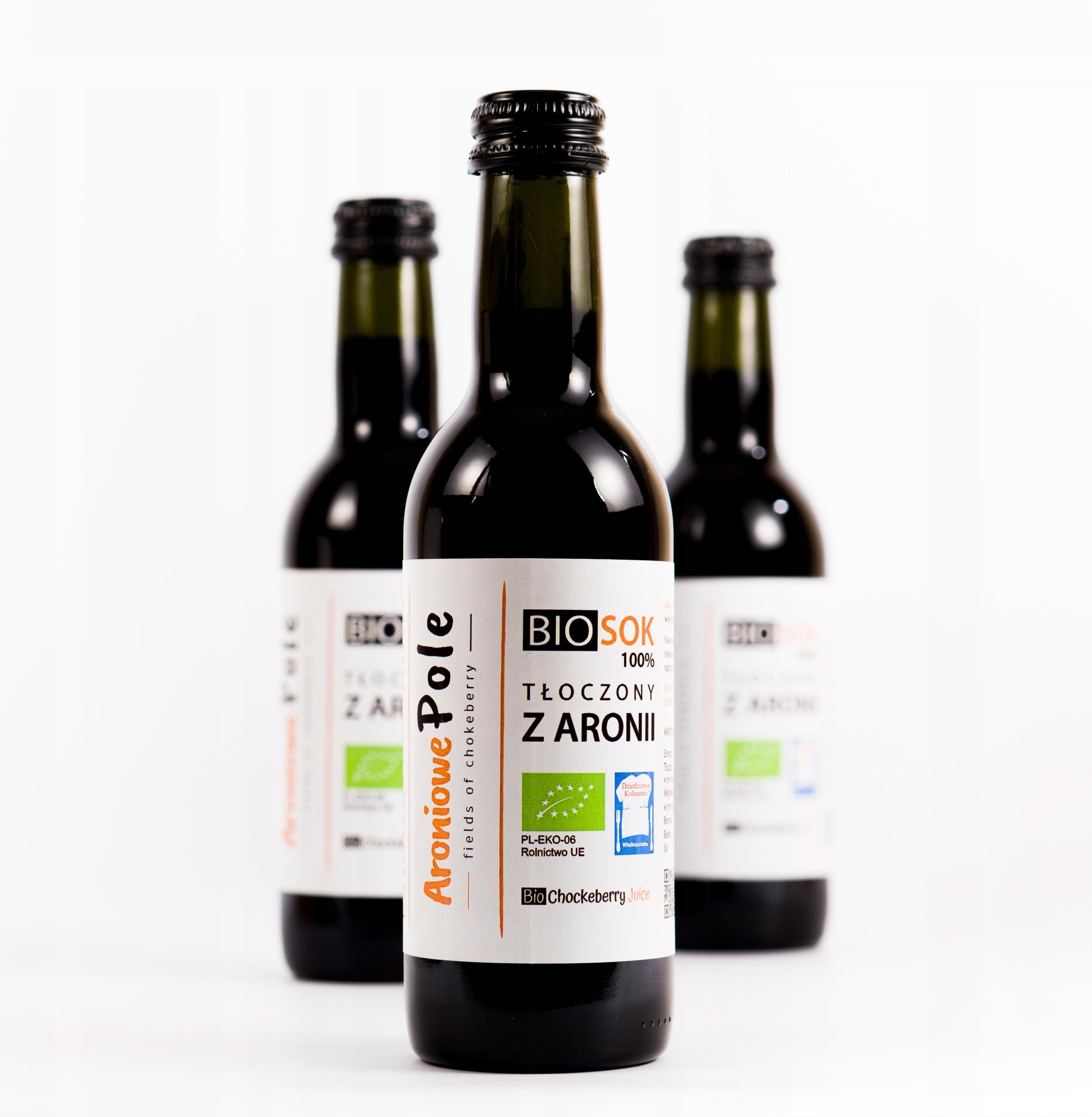 BIO sok z aronii - tłoczony 100% -plantacja własna