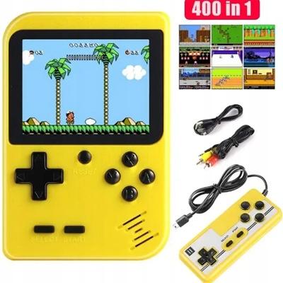 Console 400 Hry Mario Contra Chip TV Pad 2 prehrávač