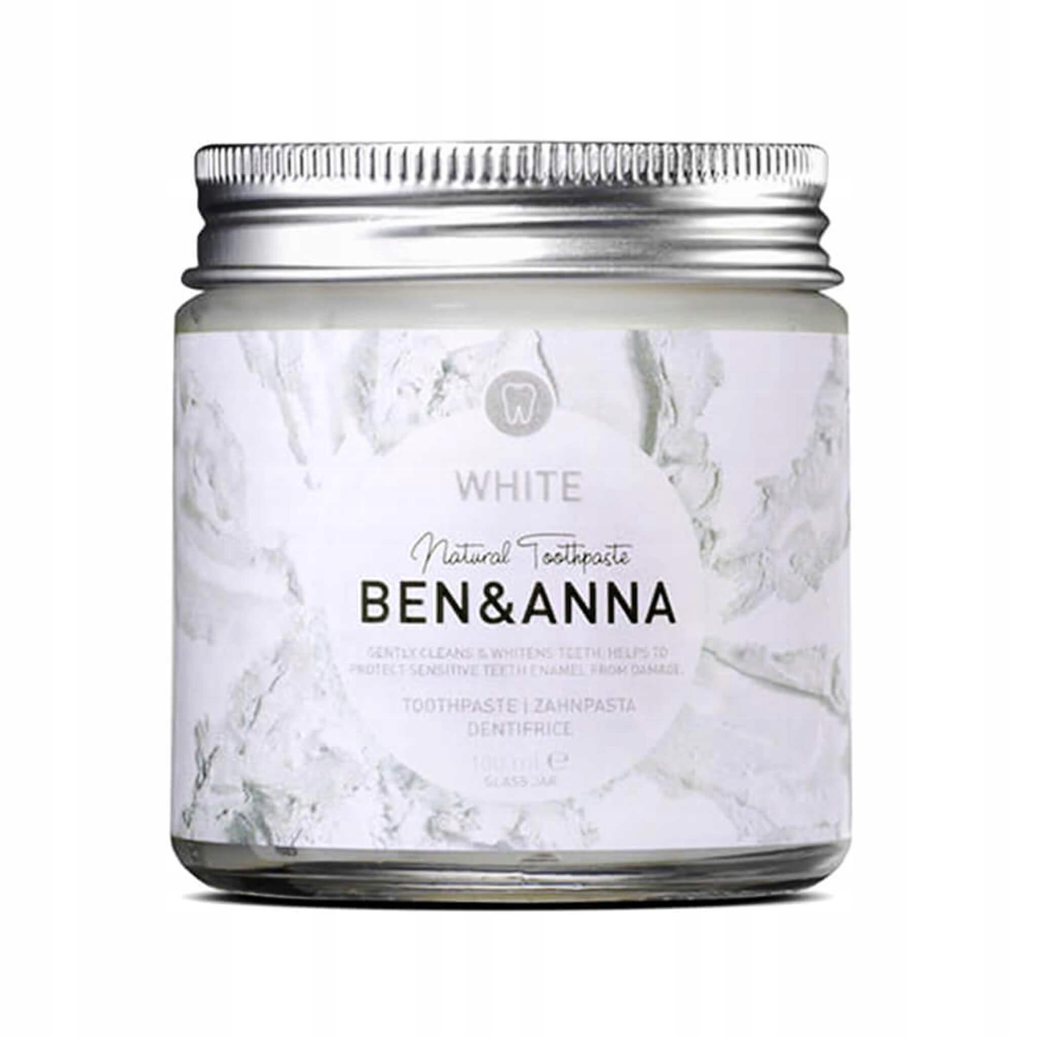 Бен и Анна Натуральная Отбеливающая зубная паста WHITE