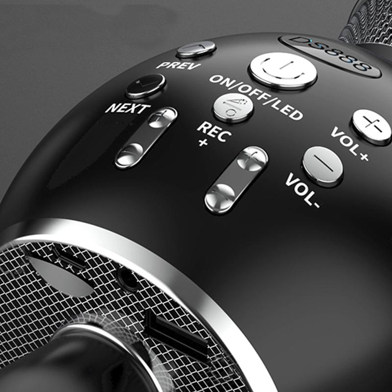 MIKROFON KARAOKE BLUETOOTH STROBOSKOP LED DISCO Komunikacja Bluetooth