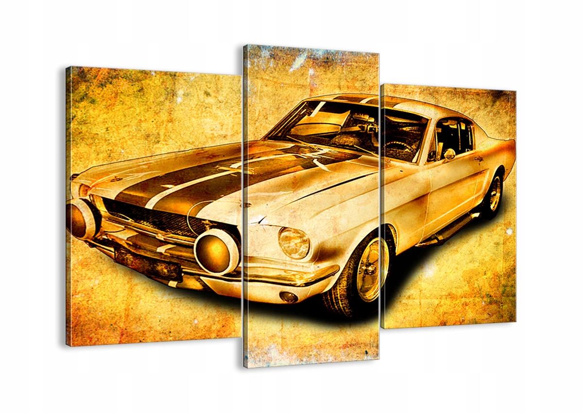 Maľovanie na plátno Auto Mustang Retro CB130x100-0528