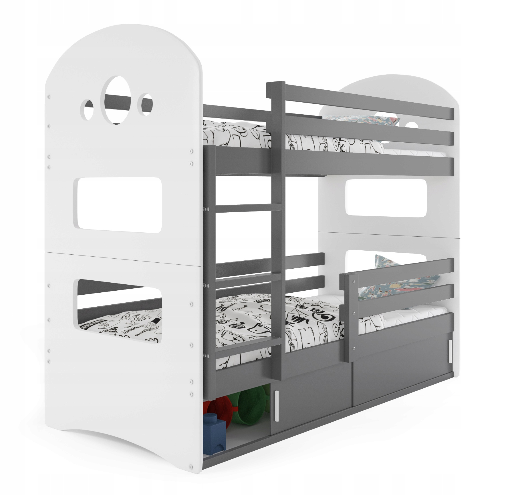 Доминик 190х80 двухъярусная кровать + каркас + матрацы