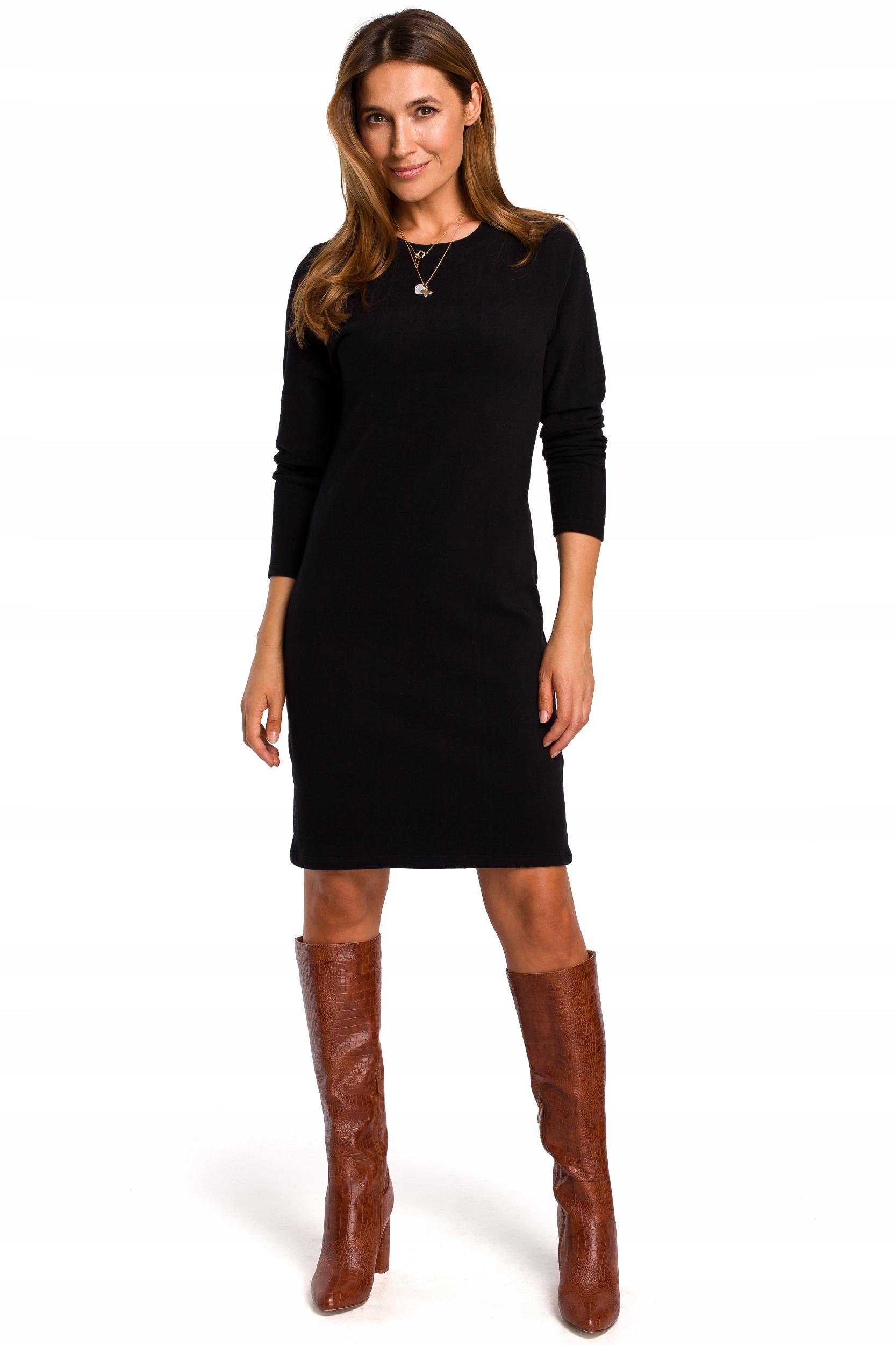 S178 Sukienka swetrowa z długimi rękawami 42 | XL