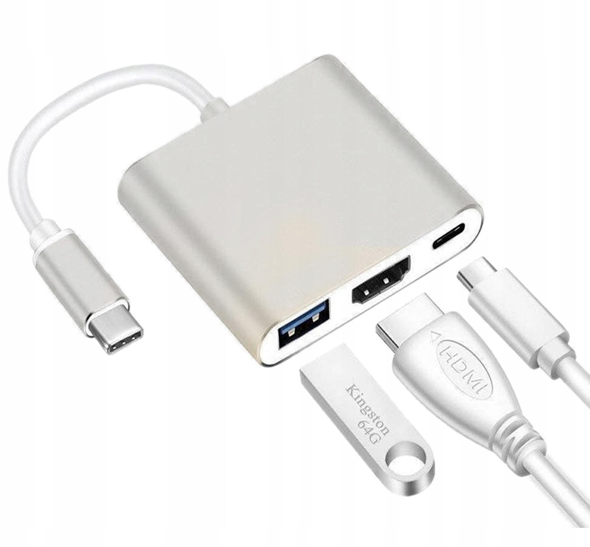 Купить Адаптер Adapter 3in1 HUB USB-C HDMI 4K ver2020 на Otpravka - цены и фото - доставка из Польши и стран Европы в Украину.