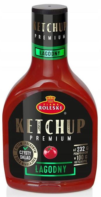 Ketchup Łagodny Premium 465g czysty skład ROLESKI