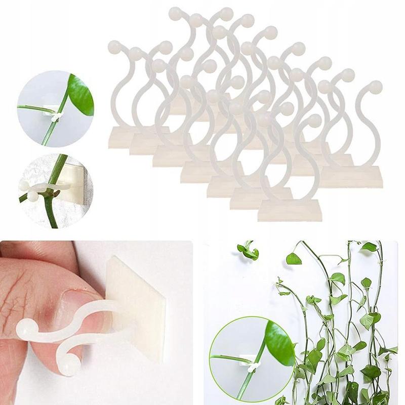 100x Zapinki do mocowania roślin samoprzylepne 9mm