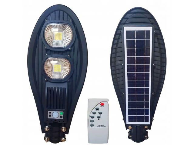 Lampa uliczna LED latarnia solarna 100W + PILOT