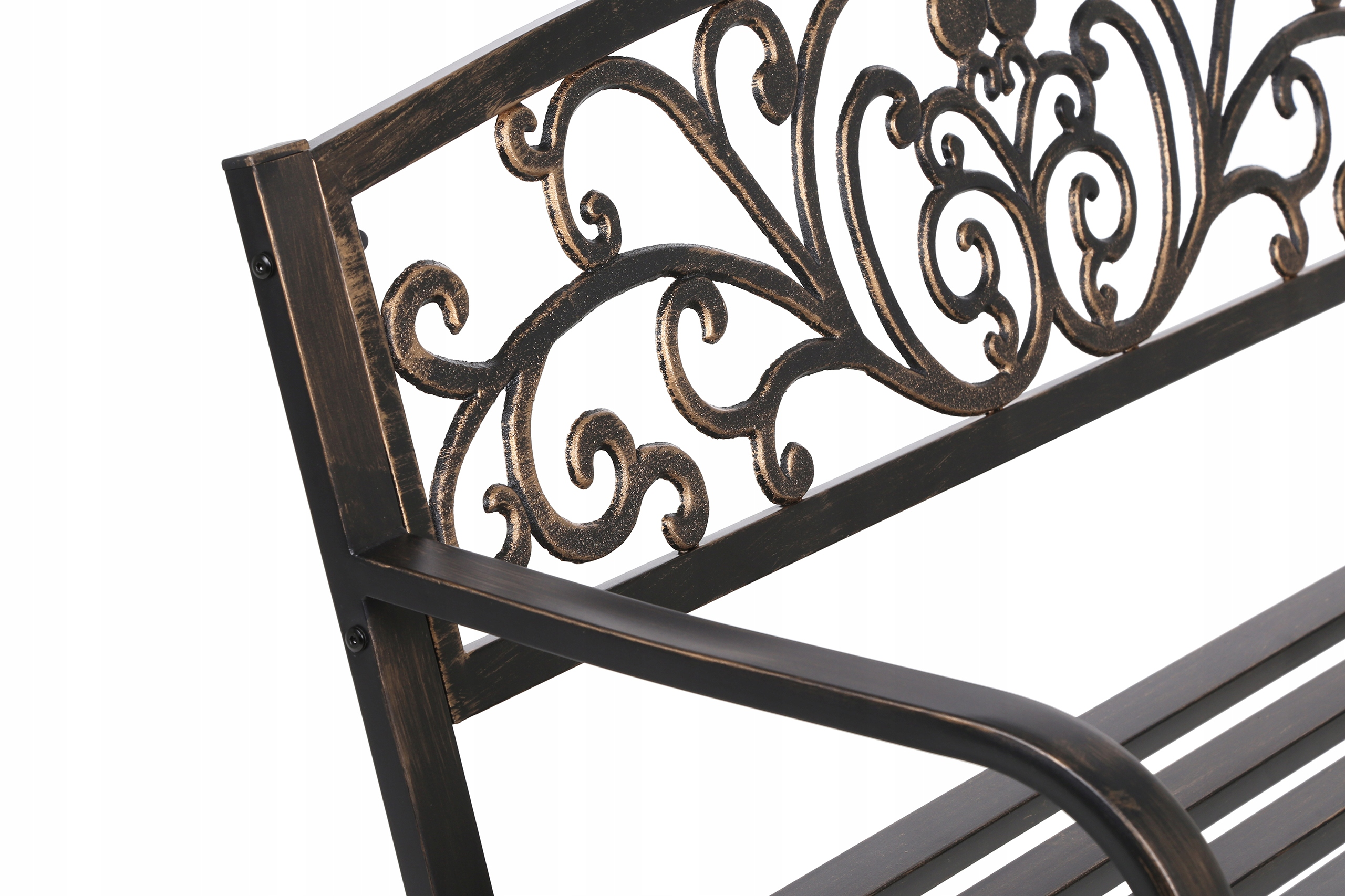 Kovová lavica ako kovaná, pevná, odolná konštrukcia lavica Line Garden